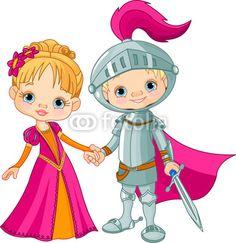 Ragazzo e ragazza medievale