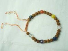 Tarini Jewels Handmala Prayer Rudraksha Bead 7 Chakra Bracelets   $21.99