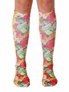 Gummy Bears Knee High Socks via Living Royal. Funky Socks, Crazy Socks, Cute Socks, My Socks, Knee Socks Outfits, Food Socks, Socks World, Bear Slippers, Thigh High Socks