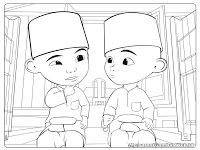 Upin And Ipin Coloring Pages Print Coloring
