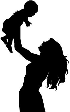 Mother Holding Baby Silhouette clip art - vector clip art on . Baby Silhouette, Silhouette Cameo, Silhouette Projects, Person Silhouette, Holding Baby, Crayon Art, Melting Crayons, Mother And Child, Mother Art