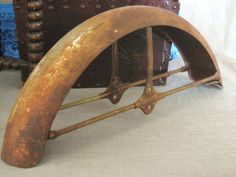 Antique Bicycle Fender - I'm sure I could do something cool with this....