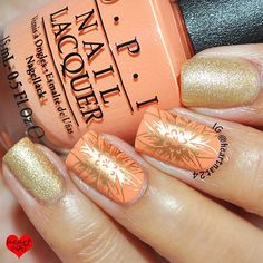 OPI Is Mai Tai Crooked?, Love Angel Music Baby ; UberChic 3-02 ; MdU Bronze ; 8/3/15 ; heartnat24