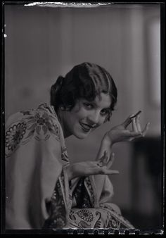 1920s Camera Negative Silent Film Star Olive Borden Charles Shedon Illustrator