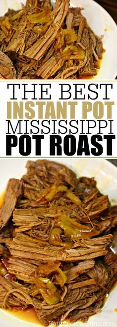 This Mississippi Pot Roast Pressure Cooker Recipe is amazing! Super easy and thi… This Mississippi Pot Roast Pressure Cooker Recipe is amazing! Super easy and this is such a quick and easy Instant Pot recipe. Pressure Cooking Recipes, Crock Pot Cooking, Cooking Steak, Cooking Ribs, Cooking Games, Cooking Classes, Cooking Turkey, Instant Recipes, Instant Pot Dinner Recipes
