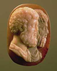 Left: Wedgwood's medallions were based on Greek and Roman cameos like this one from 165 AD. Courtesy: Louvre, Paris, France, Peter Willi/The Bridgeman Art Library.