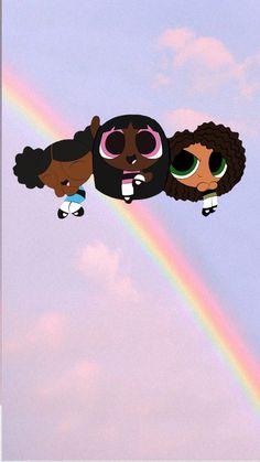 Black Cartoon Characters, Black Girl Cartoon, Black Girl Art, Cartoon Pics, Cute Cartoon Wallpapers, Powerpuff Girls Wallpaper, Cute Disney Wallpaper, Girl Iphone Wallpaper, Cute Wallpaper Backgrounds