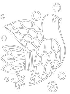 coloring sheet or perhaps a applique template for needle felting on a pillow cover