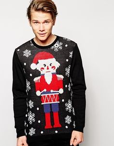 Discover the latest men's Christmas jumpers with ASOS. From novelty to funny and cheesy, we have Christmas jumpers to suit any style. Shop now with ASOS. Funny Christmas Jumper, Ugly Christmas Jumpers, Ugly Xmas Sweater, Holiday Sweater, Asos, The Fashionisto, Models, Christmas Shopping, Festival Fashion