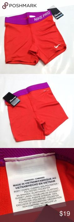 """Nike Kids Pro compression shorts PRICE FIRM UNLESS BUNDLED A staple for any active girl! 😊⚽️🏀🏈 These have a 4"""" inseam & 11"""" outseam. 12"""" waist measured flat and relaxed. The color is a dark pink to fuchsia. Nike Bottoms Shorts"""