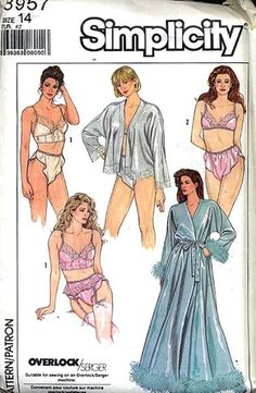 Simplicity 3957 vintage lingerie sewing pattern