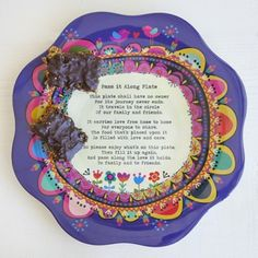 Purple Pass It Along Melamine Giving Plate From Natural Life