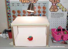 DIY Lightbox @ One Creative Mommy