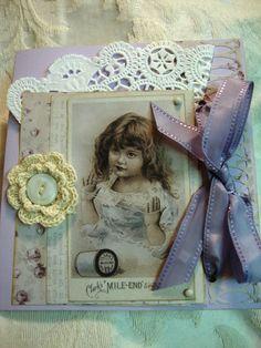 Elegant Greeting Card  Edwardian Style by AshbrookeSalutations, $6.50