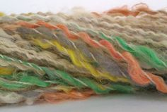 Whisper of spring Hand spun art yarn  Merino by misterstiltskin, $21.00