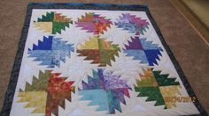 Chain saw Quilt made for my 40th high school reunion auction
