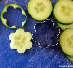Easy peasy Cucumber flowers! Yeah, life's all about shortcuts! ;)