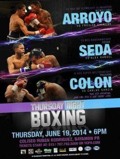 Thursday Night Boxing en el Coliseo Rubén Rodriguez. Consigue tu entrada en Ticket Center www.tcpr.com