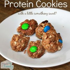 protein cookies with m&ms