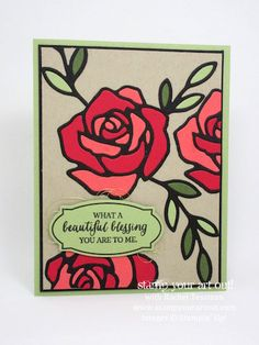 Mediterranean Achiever's Blog Hop January 2016: All You Need Is Love… Card made with Rose Wonder stamp set and Rose Garden thinlits (click here to see how I mad this)…#stampyourartout #stampinup - Stampin' Up!® - Stamp Your Art Out! www.stampyourartout.com