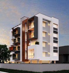 70 Ideas Apartment Building Design Architecture Projects For 2019 Building Elevation, Building Exterior, Building Design, Exterior Stairs, Stucco Exterior, Building Ideas, Architecture Design, Modern Residential Architecture, Amazing Architecture
