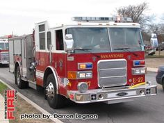 San Antonio Fire Department Pierce Engines (CAFS equipped)