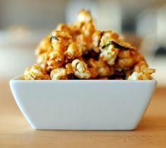 Caramel Popcorn with Rosemary