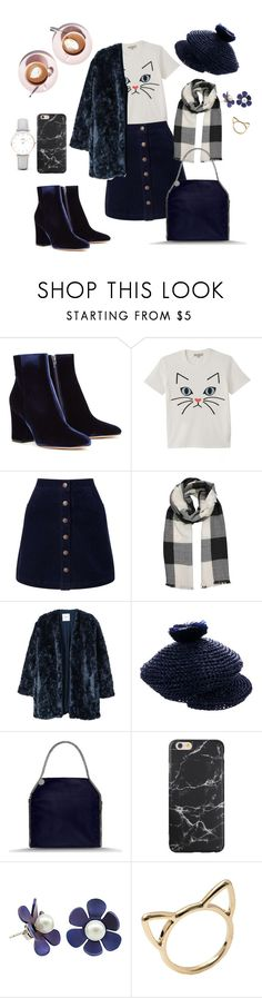 """""""Coffee Date With My Cat"""" by auds923 ❤ liked on Polyvore featuring Gianvito Rossi, Paul & Joe, Miss Selfridge, MANGO, Burberry, STELLA McCARTNEY and CLUSE"""
