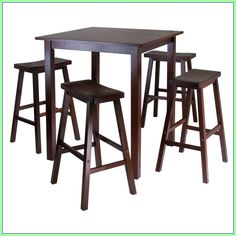 bar high kitchen table and chairs #bar #high #kitchen #table #and #chairs Please Click Link To Find More Reference,,, ENJOY!! Bar Chairs, Table And Chairs, Dining Table, Stools, Small Dining Area, 5 Piece Dining Set, Dining Room Sets, Patio Bar Set, Pub Table Sets