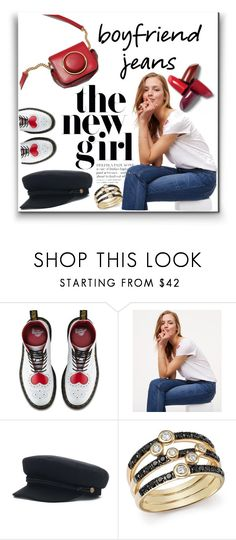 """""""HEY GIRL❗️"""" by maria-isabel-dolon-insame ❤ liked on Polyvore featuring Dr. Martens, LOFT and Bloomingdale's"""