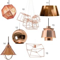 Copper is the new brass. Her are 15 examples of modern copper pendant lights, with pieces by Tom Dixon and Ladies & Gentlemen.