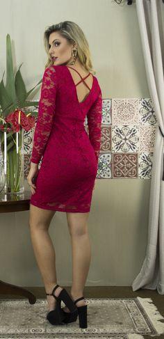 Ref. 11565 Vestido de Renda Costas