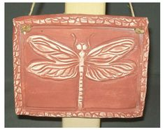 Dragon fly plaque by HilltopPottery on Etsy, $17.50