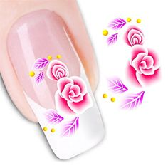 Nicedeco - 1pack New Products Nail Art Flowers Stickers Salon Nail Design Manicure Decals Nail Art Water Nail Art Decal / Tattoo / Sticker Fashion Nail Stickers/Tattoo/Deacl Water Transfers Decals BE099 -- Get more discounts! Click the pin : Beauty products 99 cent