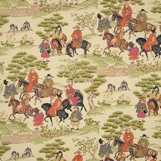 Manchuria Tangerine by Vervain Fabrics