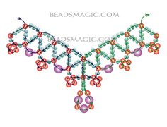 beaded necklace patterns | Free pattern for beautiful beaded necklace Levona | Beads Magic