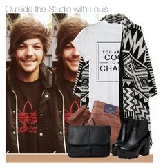 """・ Outside the studio with Louis  ・"" by zaynismybaex ❤ liked on Polyvore featuring Accessorize, Chanel and MANGO"