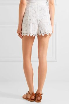 Zimmermann - Divinity Wheel Broderie Anglaise Cotton Shorts - White - 0
