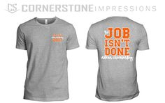 The job isn't done cheerleading tees! Have a phrase or style you love for your cheer squad? Cheerleading, Squad, Printed, Tees, Mens Tops, How To Make, Style, Fashion, Moda