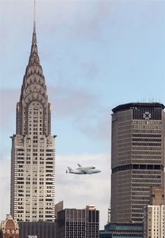 Space Shuttle over NYC