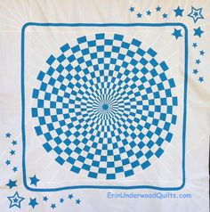 Optical Illusion quilt pattern by Erin Underwood Quilts