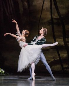 Marianela Nuñez as Giselle and Vadim Muntagirov as Count Albrecht in Peter Wright's production of Giselle. The Royal Ballet Season Photographer Andrej Uspenski - a wonderful evening watching this beautiful, mesmerising ballet. Ballet Pictures, Dance Pictures, Dance Tights, Shall We Dance, Ballet Photography, Royal Ballet, Ballet Beautiful, Ballet Costumes, Ballet Dancers