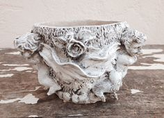 SHABBY CHIC RESIN White Angel Planter by SouthamptonVintage