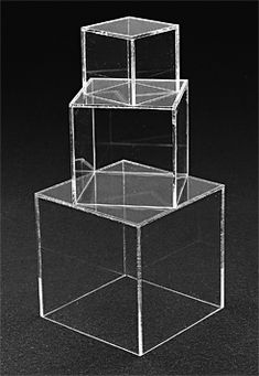 Clear Acrylic Cube Risers With Hollow Bottoms Set Of 3