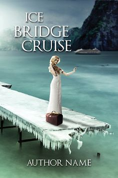 Ice Bridge Cruise, a full book cover in high resolution with a woman standing on an ice bridge waiting for her ship to arrive. A back and spine are included. Overall colour and fonts are adjustable and off course your own Title, text and references will be put in before you receive this cover. BONUS…
