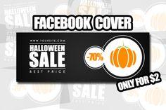 #Halloween #Facebook Cover by Flotas Media Market on @creativemarket