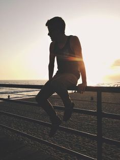 Connor Franta. Perfection. (Silhouette. Sunset.)