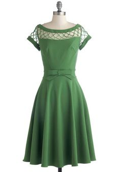 With Only a Wink Dress in Peridot, AHH!! so classy and that color is incredible. Love #ModCloth
