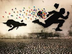 Street Art by Kenny Random, located in Padua, Italy Murals Street Art, Street Wall Art, Mural Art, Street Art Graffiti, Outside Wall Art, New York Graffiti, Banksy Art, Bansky, Urbane Kunst