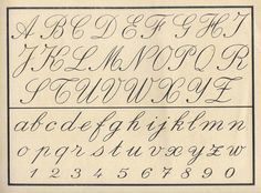 Vintage cursive alphabet~Unfortunately, Children do Not Learn this in School Anymore. No Penmanship Classes in Schools. Today many children cannot read cursive! Alphabet Cursif, Childrens Alphabet, Spanish Alphabet, Preschool Alphabet, Alphabet Crafts, Cursive Handwriting, Penmanship, Cursive Numbers, Cursive Script